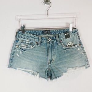 Abercrombie & Fitch Shorts - Abercrombie & Fitch Distressed Jean Shorts Sz 27